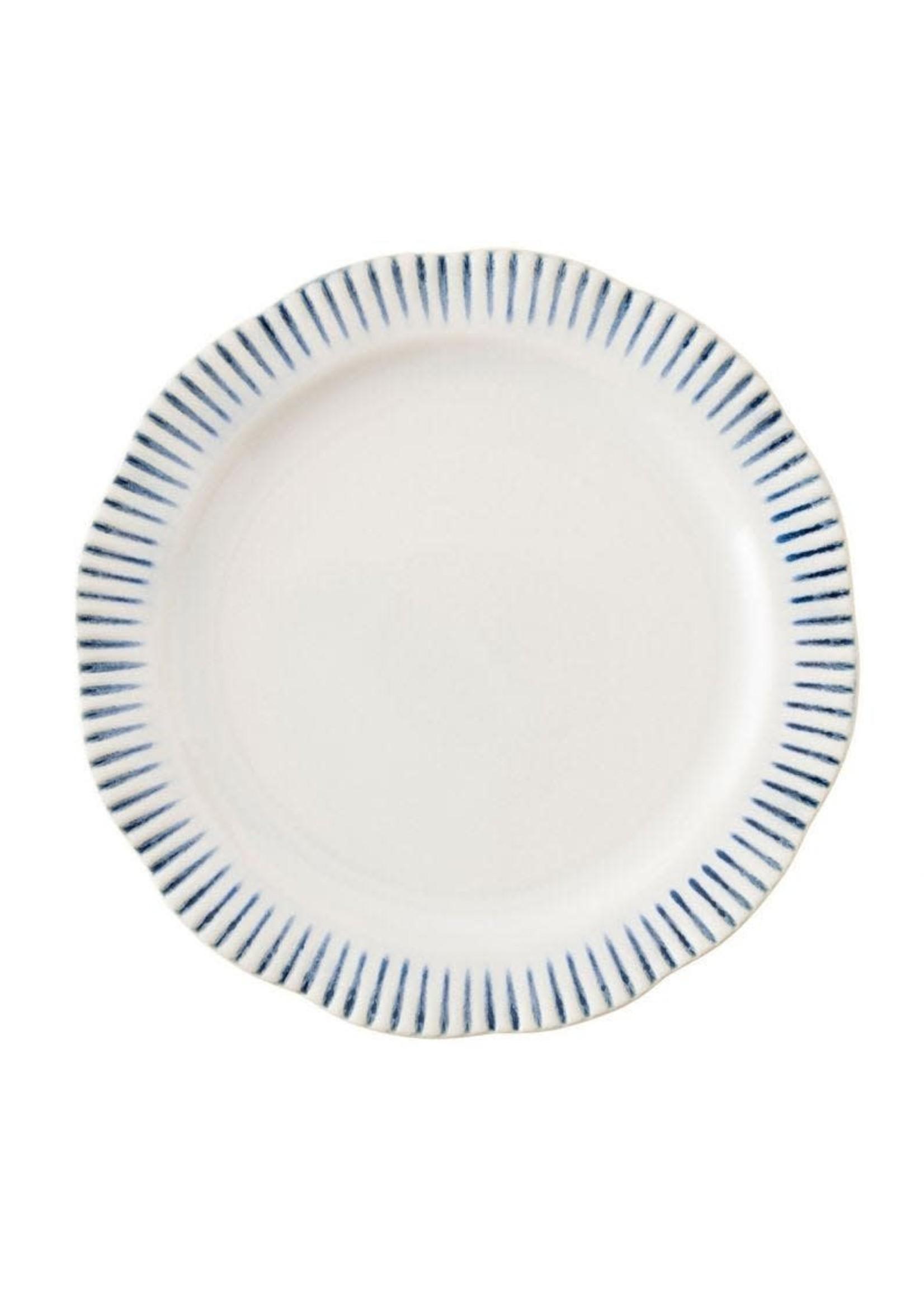 Juliska Sitio Stripe Indigo - Dinner Plate
