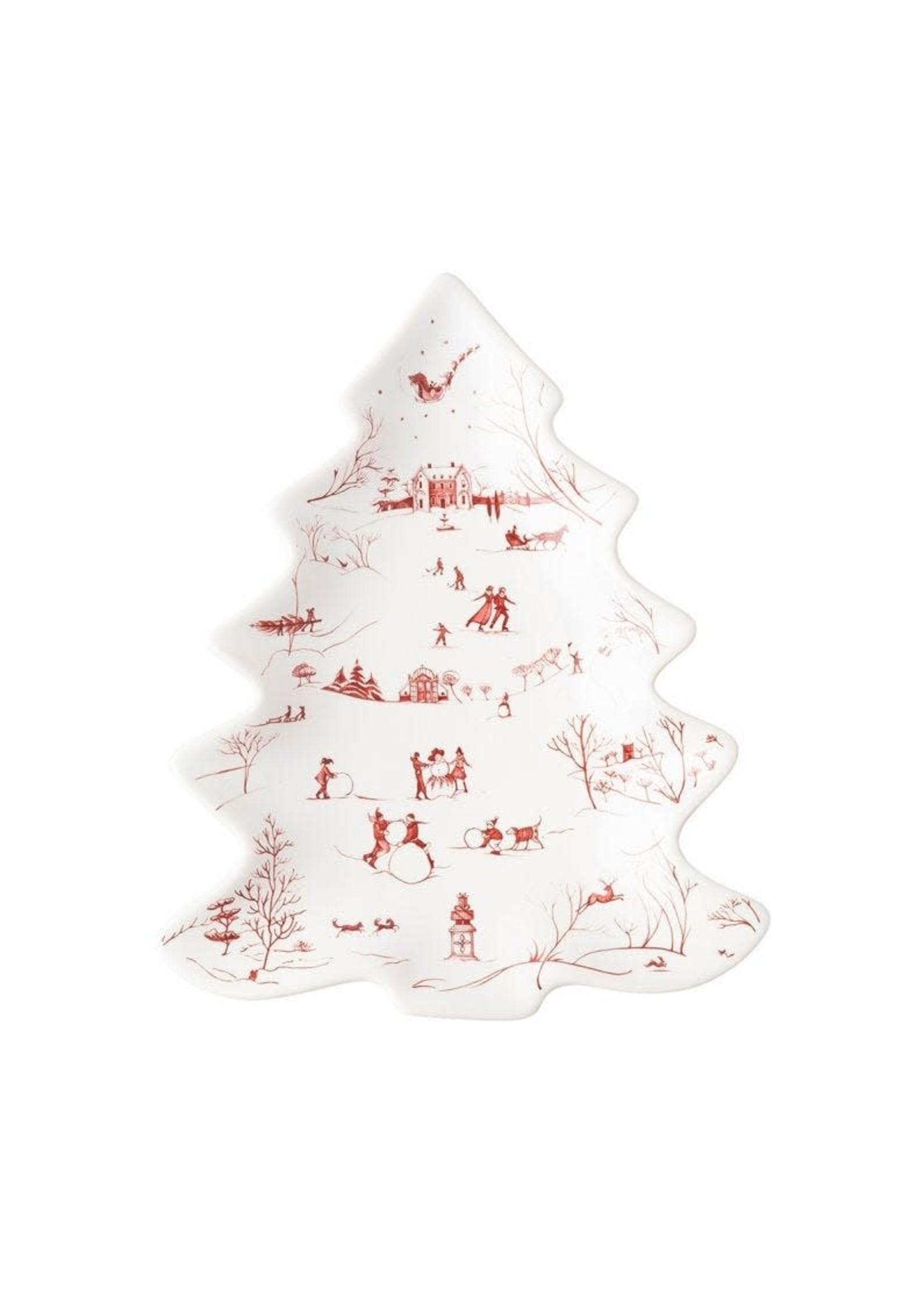 Juliska Country Estate - Ruby - Small Tree Tray - Winter Frolic