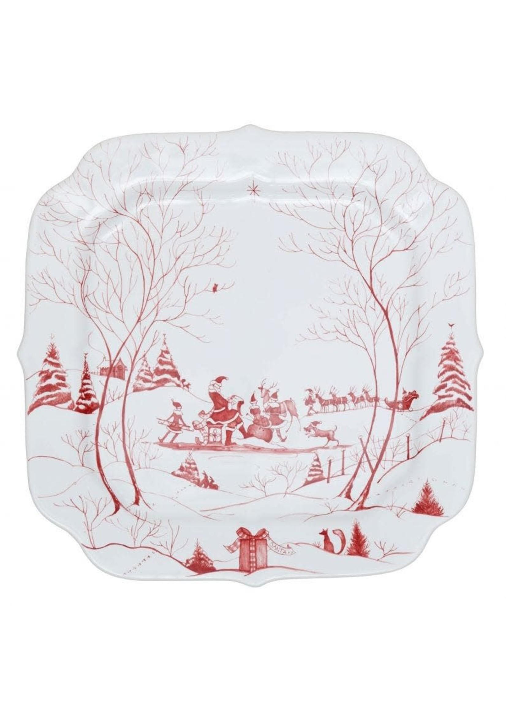 Juliska Country Estate - Ruby - Santa's Cookie Tray - Winter Frolic