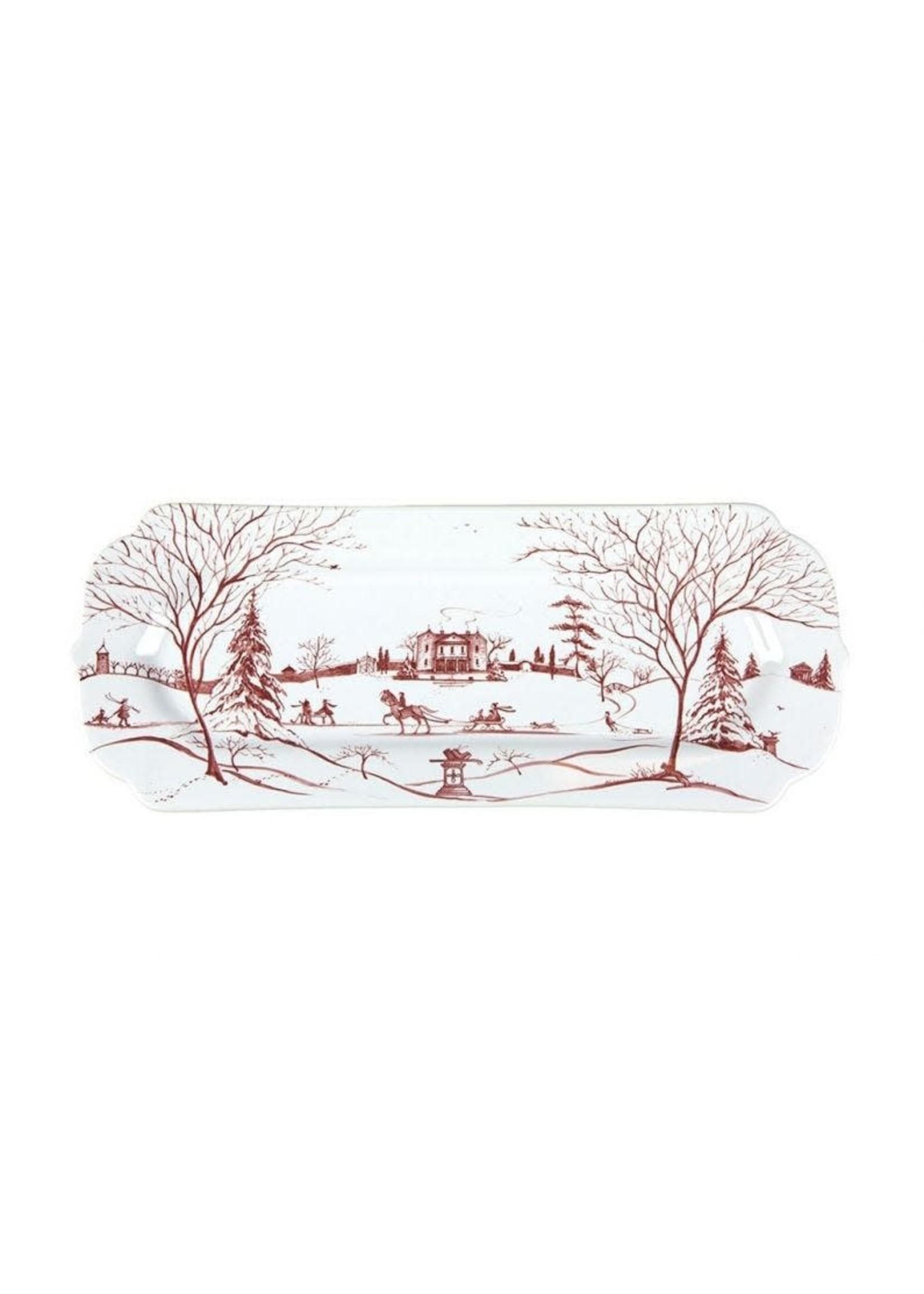 Juliska Country Estate - Ruby - Hostess Tray - Winter Frolic - Main House