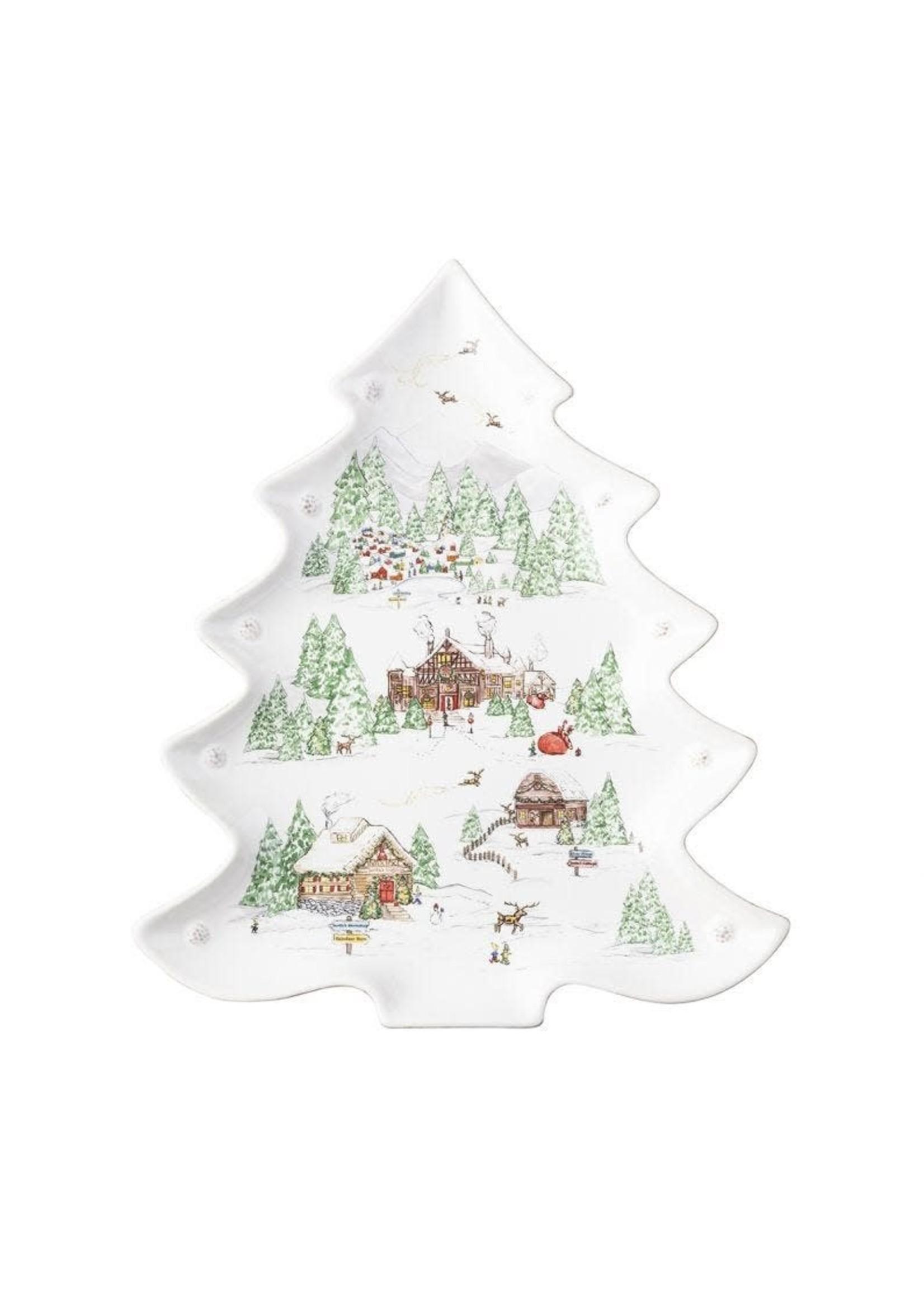 Juliska Berry & Thread North Pole Tree Platter