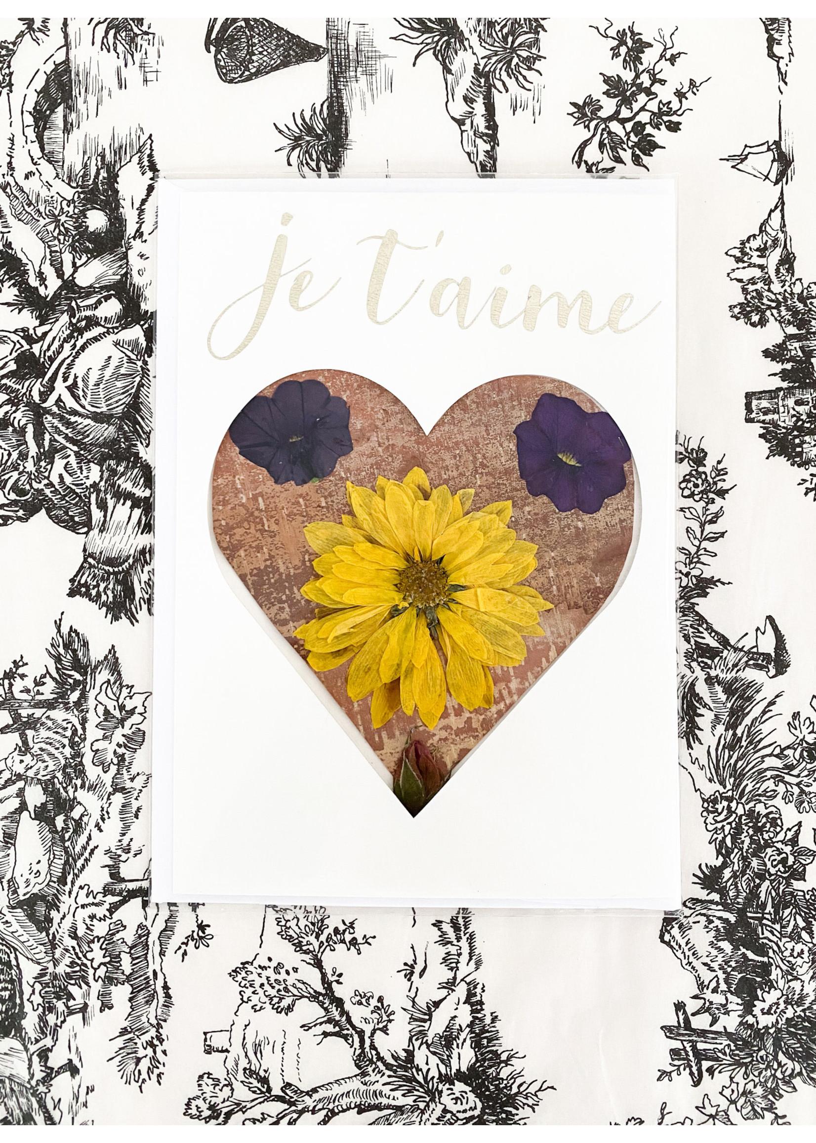 Locally Handmade & Pressed Flower & Birch Cards
