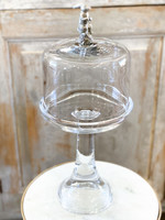 Glass Covered Cake/Dessert Stand - Bunny - Tall