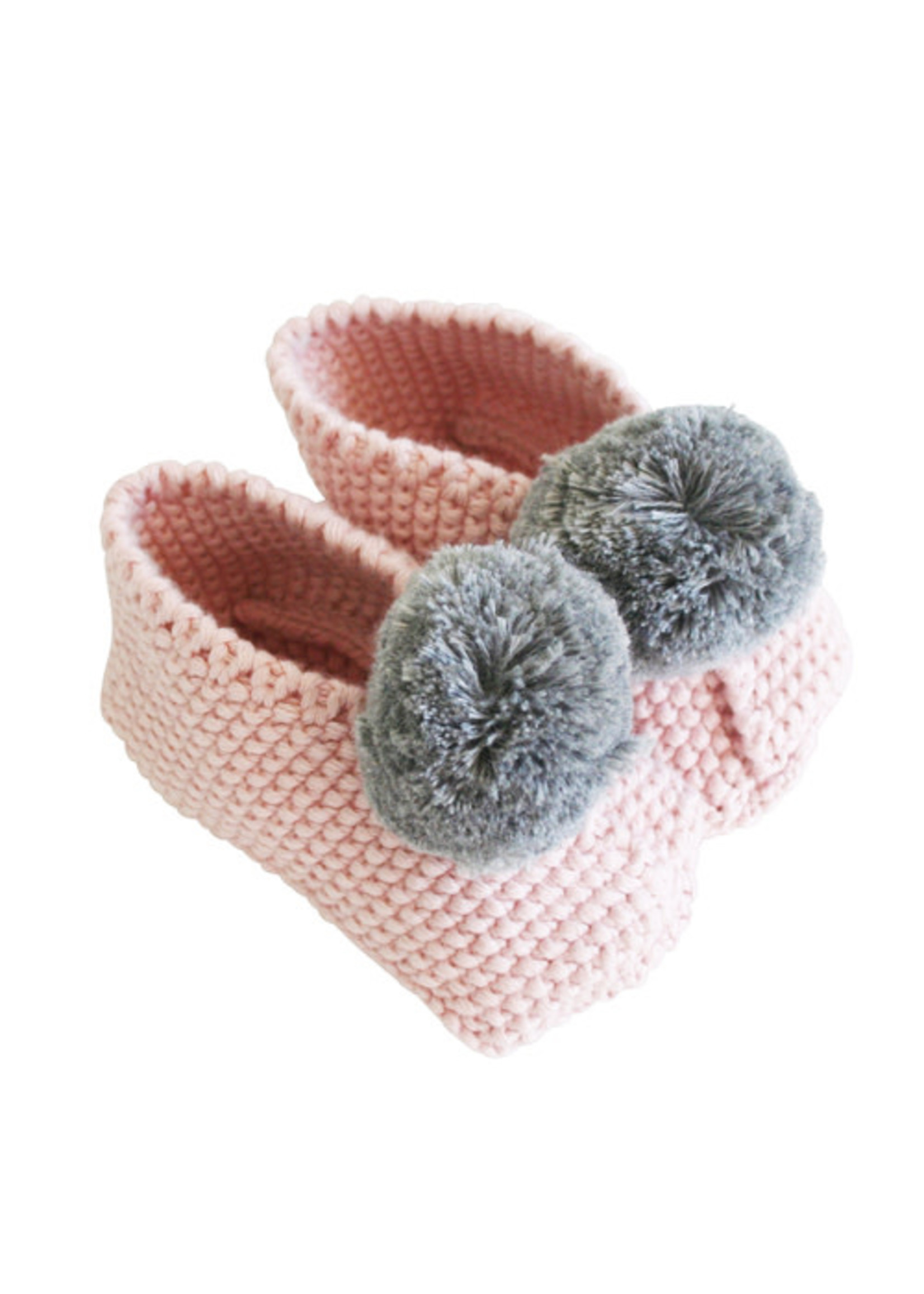 Baby Slippers Rosewater & Grey