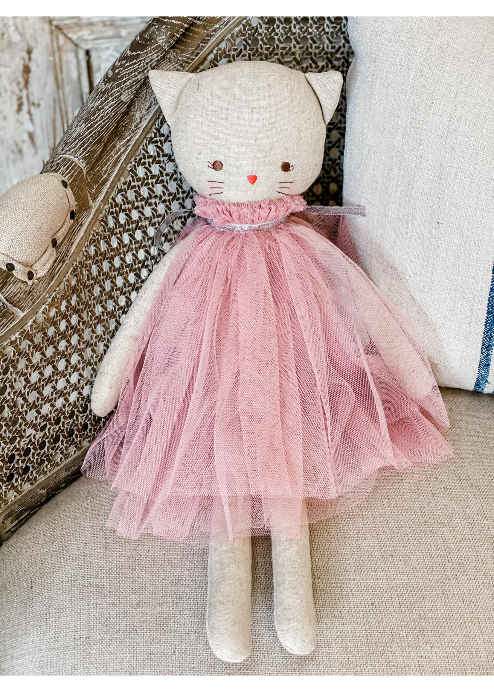 Linen Cat Doll Aurelie Blush