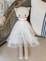 Linen Cat Doll Aurelie Ivory