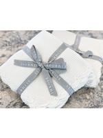 Baby Blanket - Organic Cotton Mini Moss Stitch -  Ivory