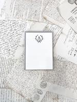 Monogram Cards - A (set of 6)
