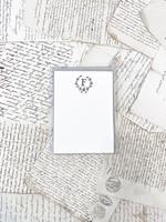 Monogram Cards - F (set of 6)