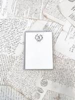 Monogram Cards - N (set of 6)