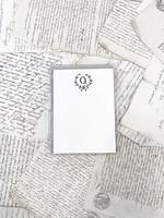 Monogram Cards - Q (set of 6)
