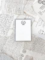Monogram Cards - U (set of 6)