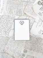 Monogram Cards - V (set of 6)