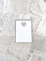 Monogram Cards - W (set of 6)