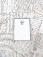 Monogram Cards - X (set of 6)