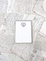 Monogram Cards - Z (set of 6)