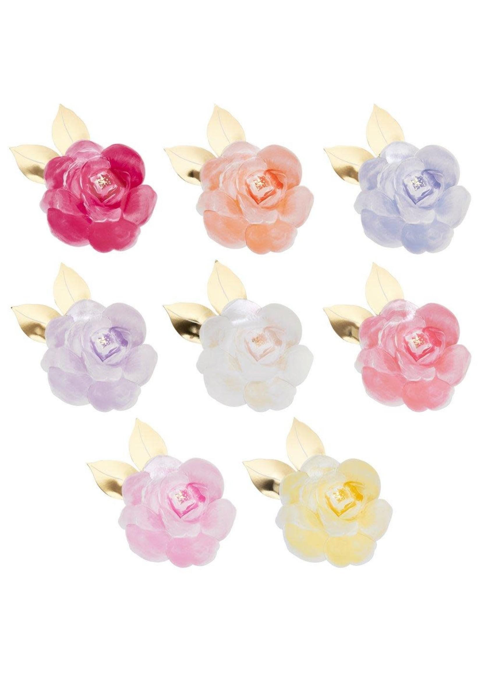 Meri Meri Paper Plates - Rose Garden (set of 8)