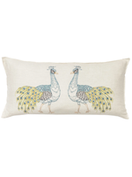 Coral and Tusk Pillow - Peacock Ivory Lumbar