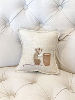 Coral and Tusk Pillow - 7x7 - Mouse