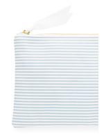Pouch - Blue Stripe Waterproof Lined