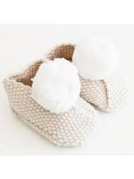 Baby Slippers Oatmeal & Ivory