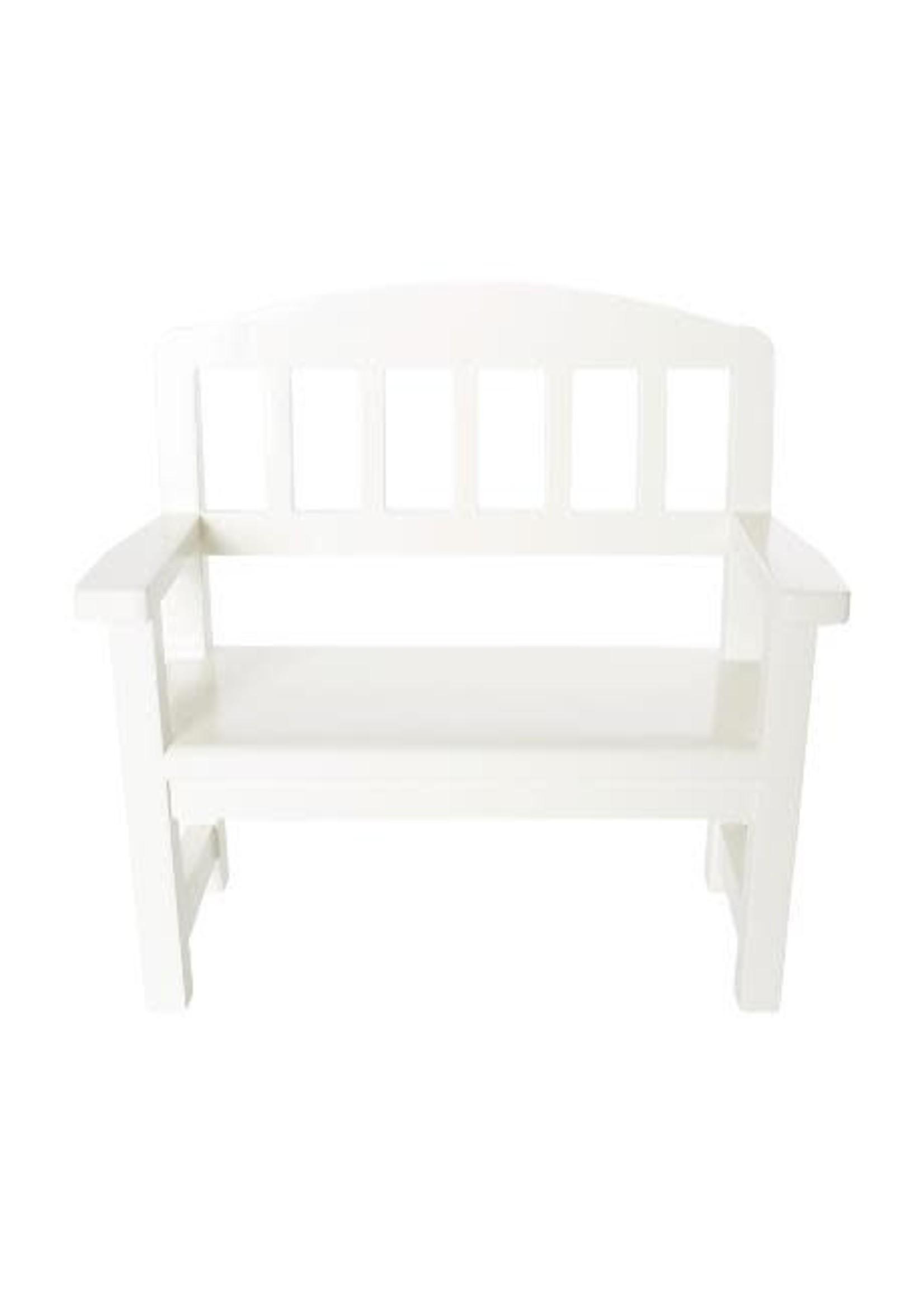 Maileg Wooden Bench - Off White