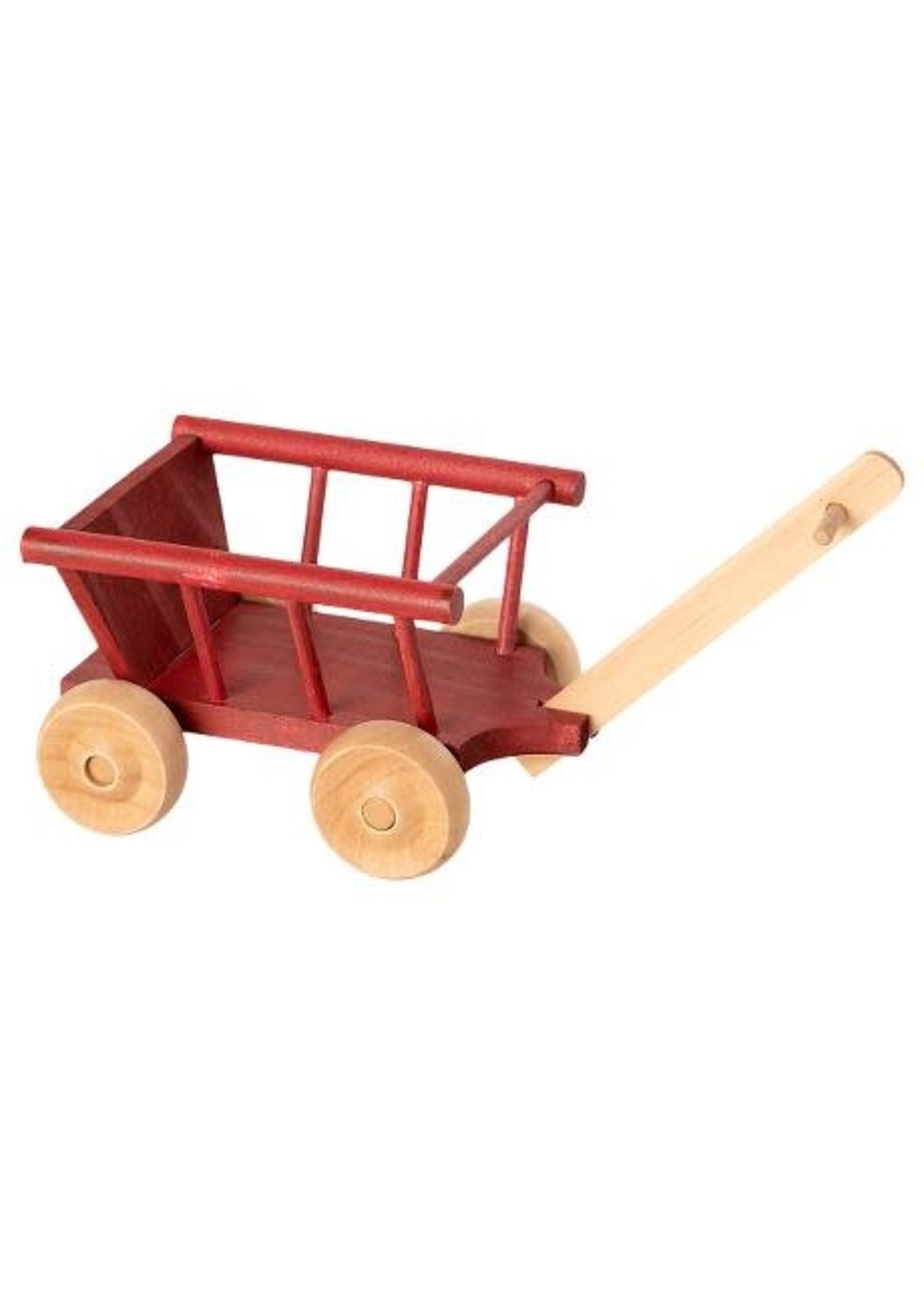 Maileg Wagon - Dusty Red
