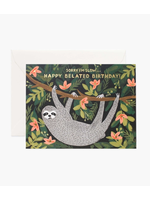 """Rifle Paper Co. Card - """"Happy Belated Birthday"""" Sloth"""