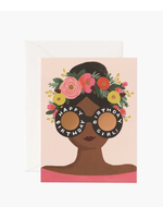 """Rifle Paper Co. Card - """"Happy Birthday"""" Flower Crown Girl"""