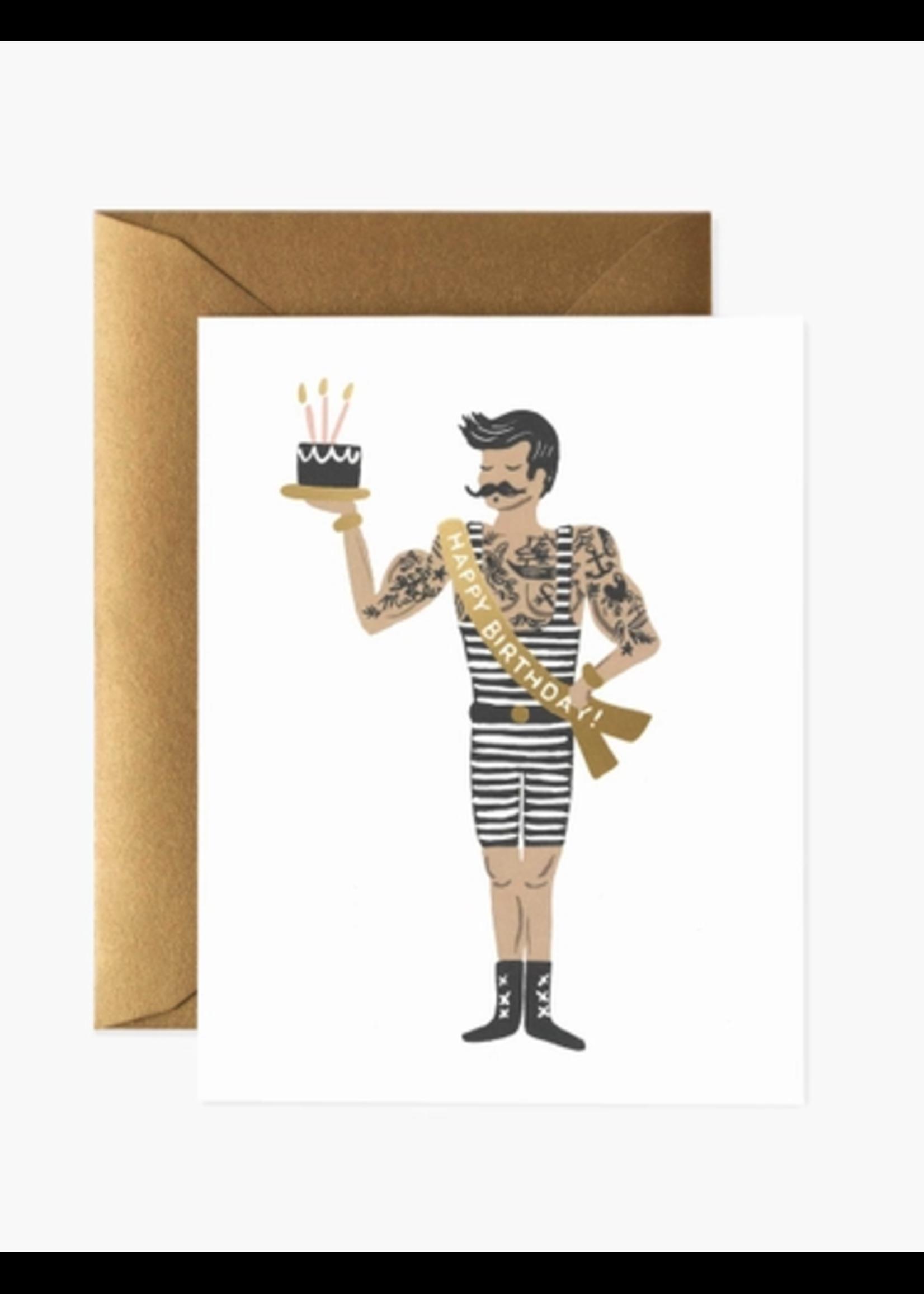 "Rifle Paper Co. Card - ""Happy Birthday"" Strongman"