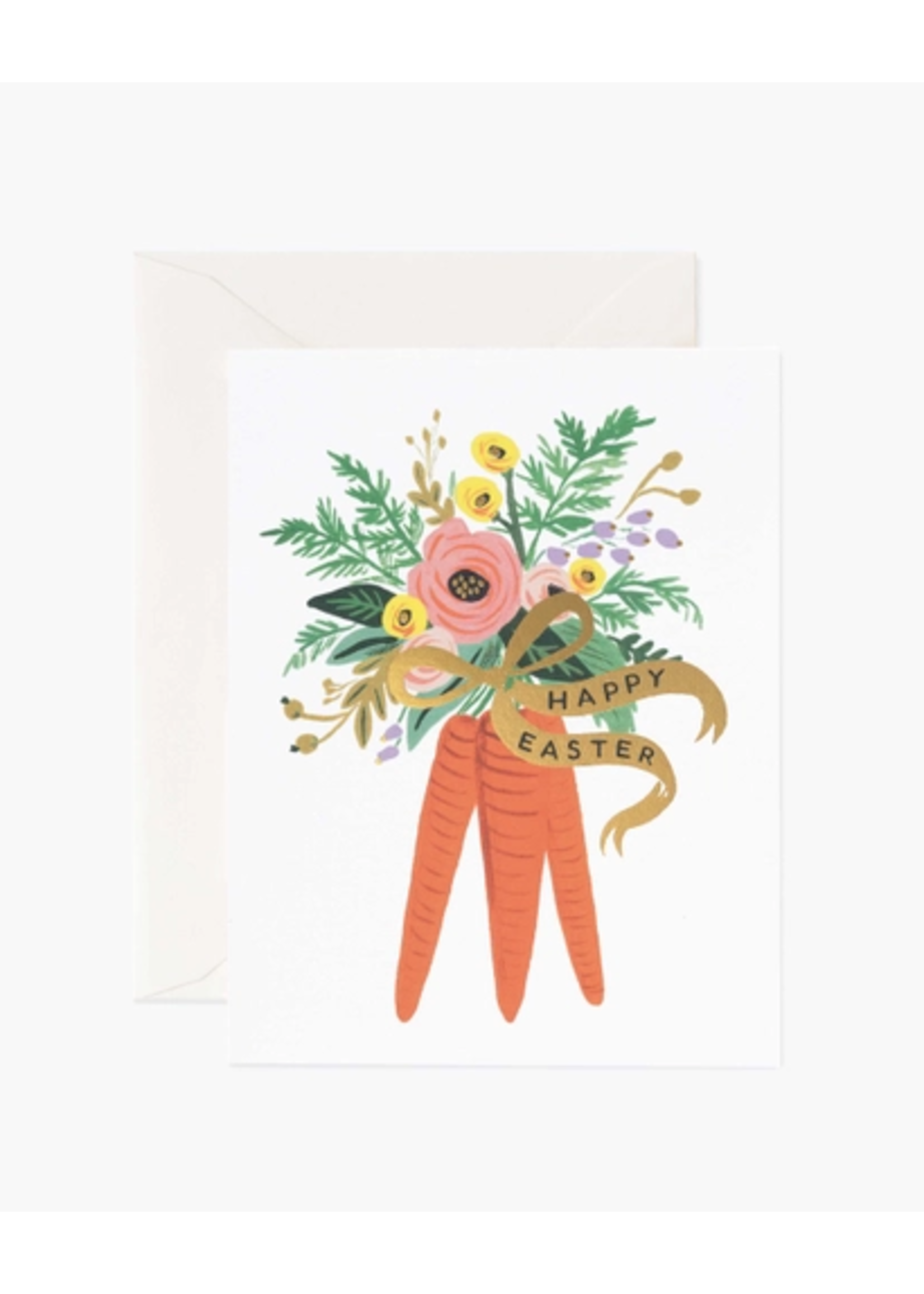"""Rifle Paper Co. Card - """"Happy Easter"""" Carrot Bouquet"""