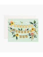 """Rifle Paper Co. Card - """"Welcome Little One"""" Garland"""