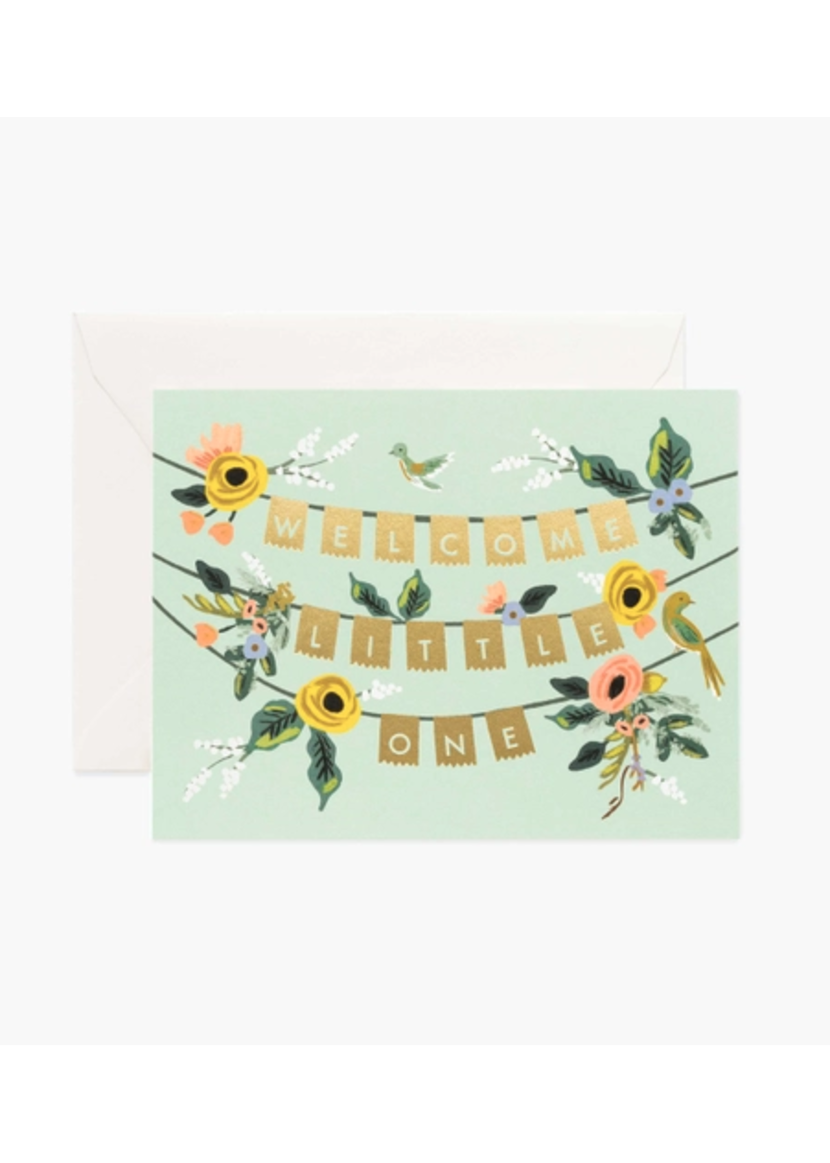 "Rifle Paper Co. Card - ""Welcome Little One"" Garland"