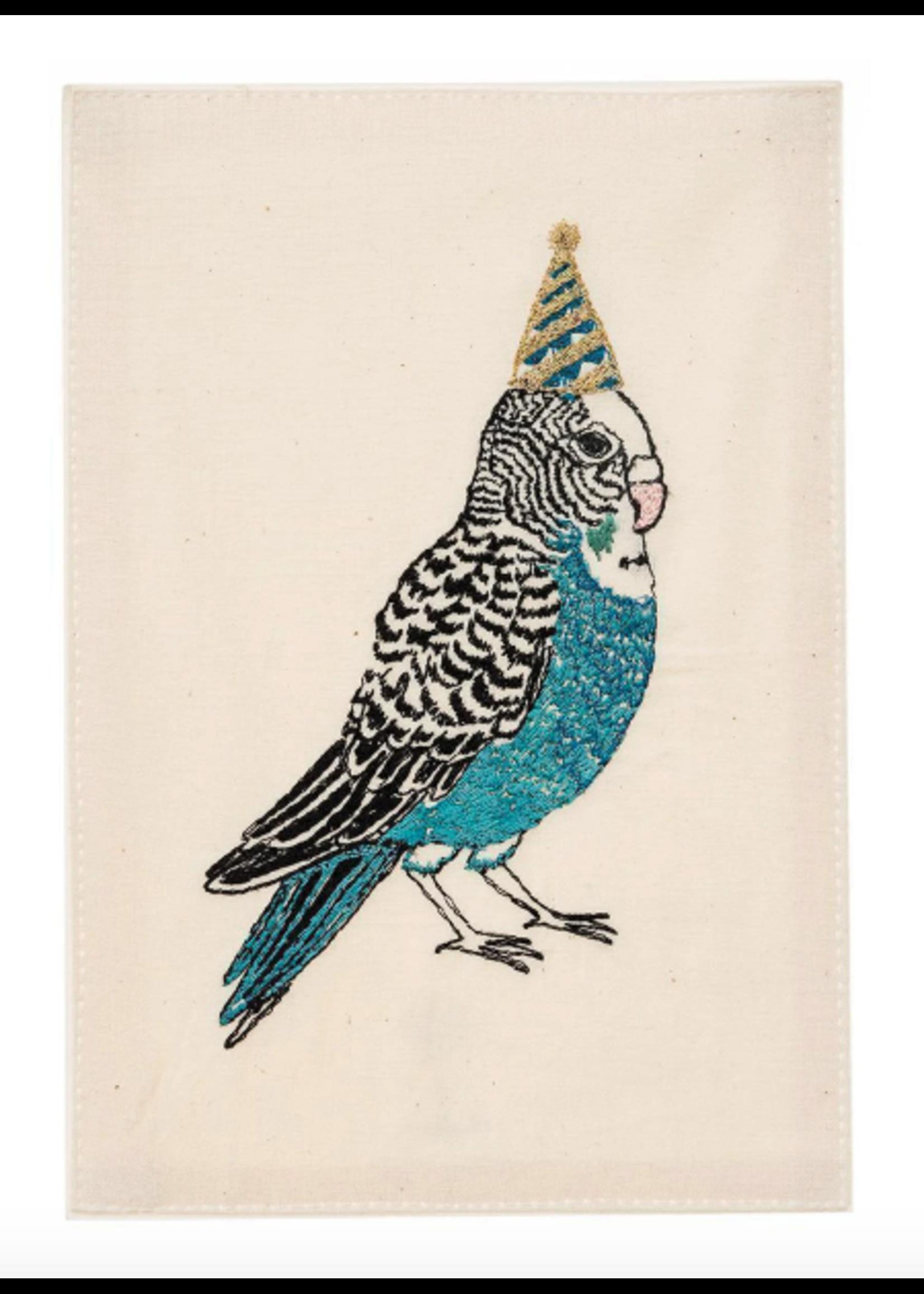 Coral and Tusk Card - Birthday Parakeet