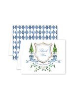 Dogwood Hill Card - Blue Topiary Thank You