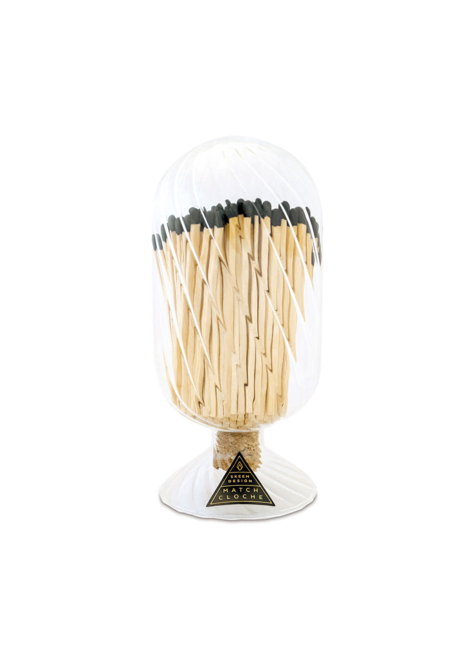 Ribbed Match Cloche - Black Tips