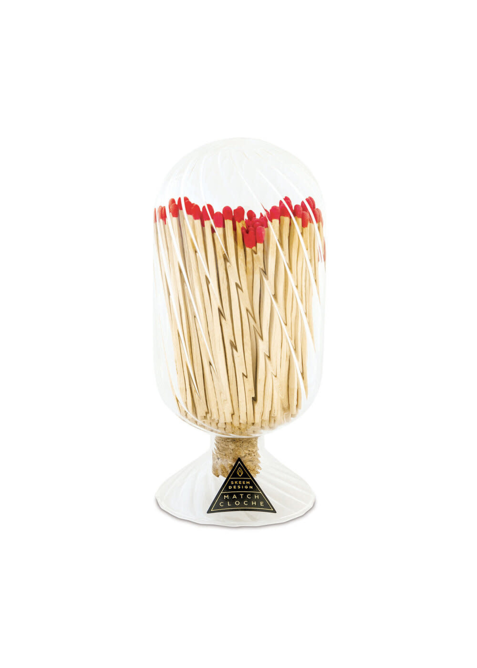 Ribbed Match Cloche - Red Tips