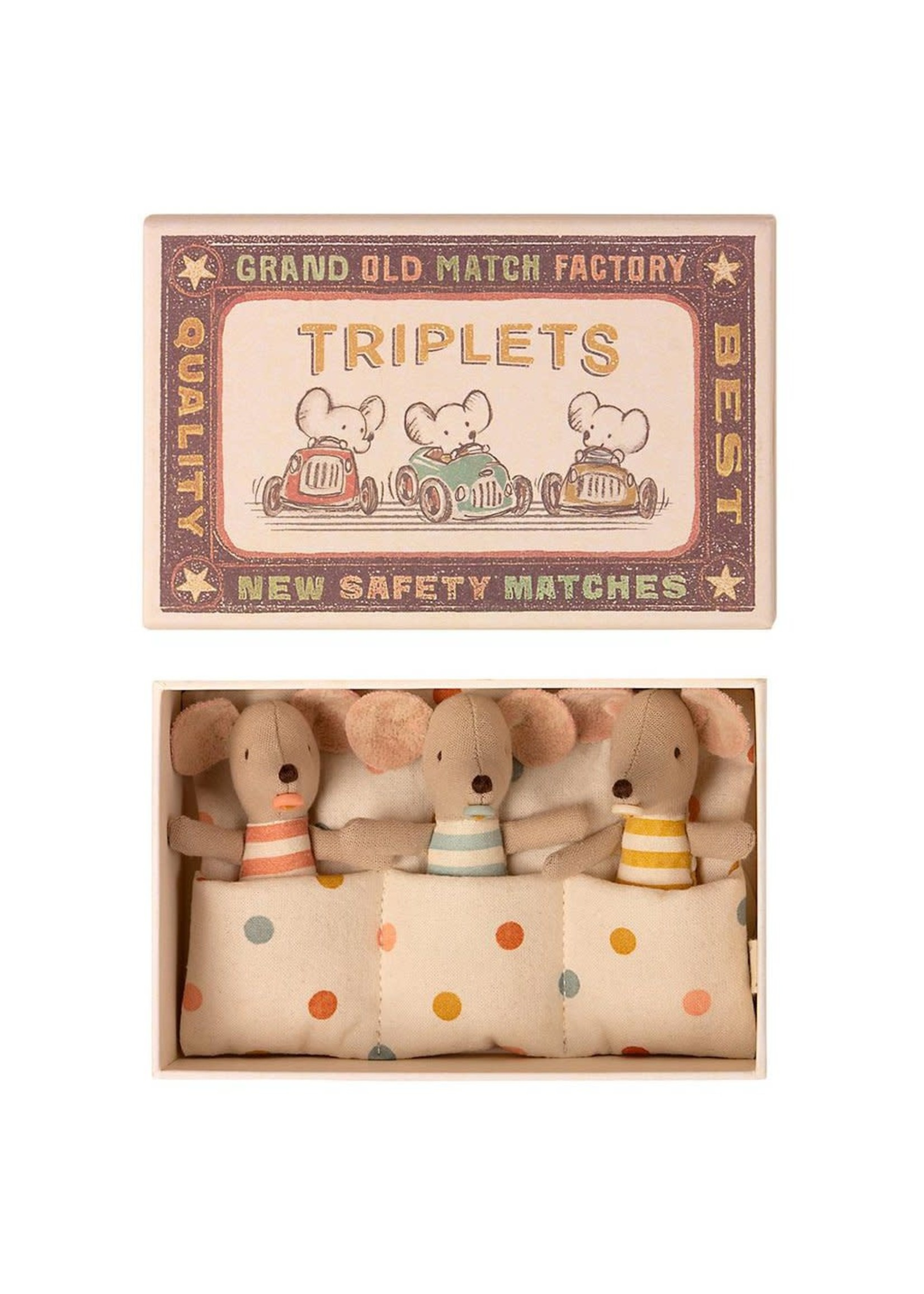 Maileg Baby Mice - Triplets in Matchbox