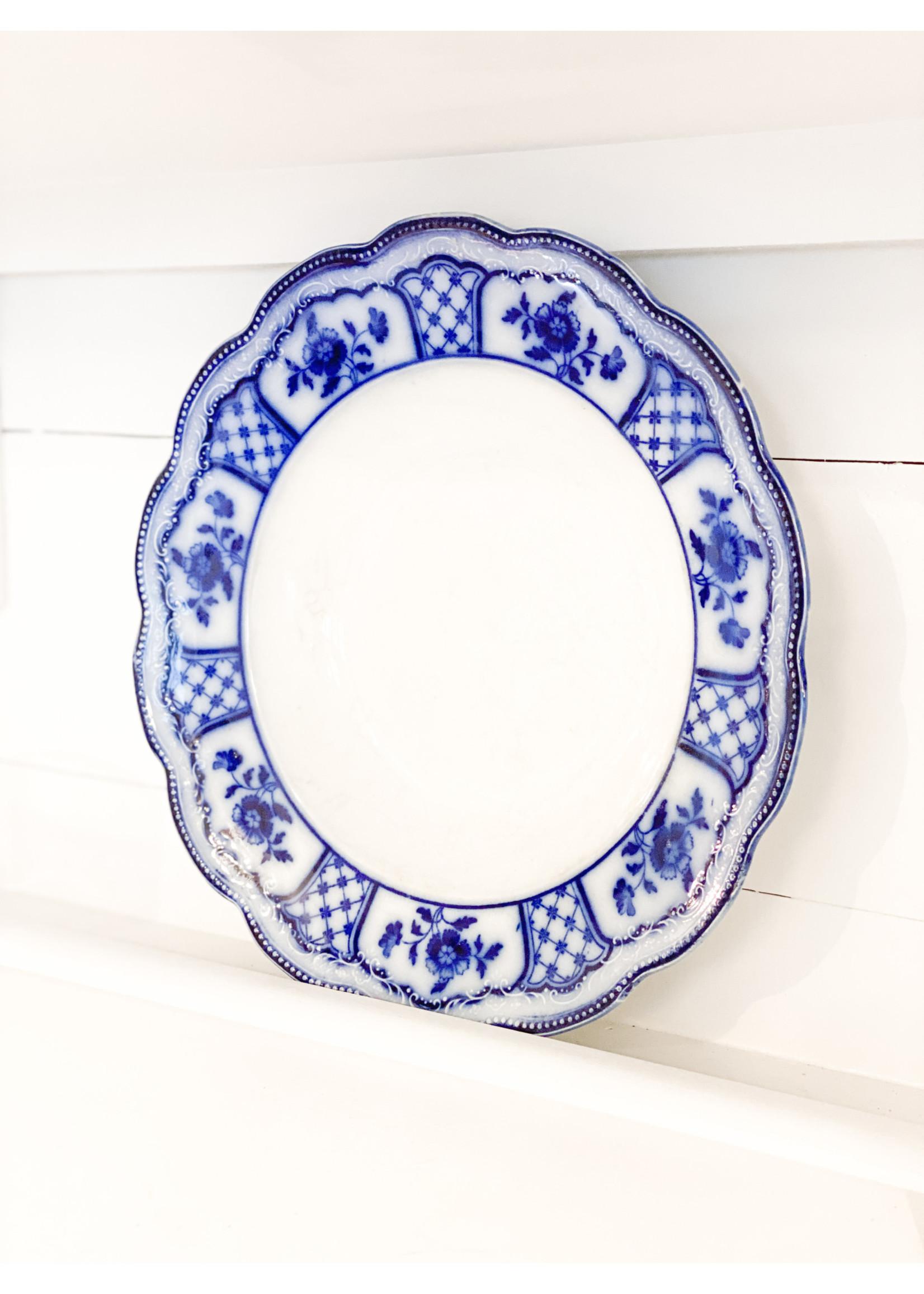 Antique Antique Blue Plate