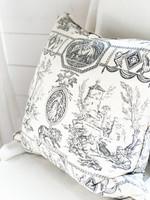 Antique Vintage Pierre Frey Toile Fabric (New Down) Pillows