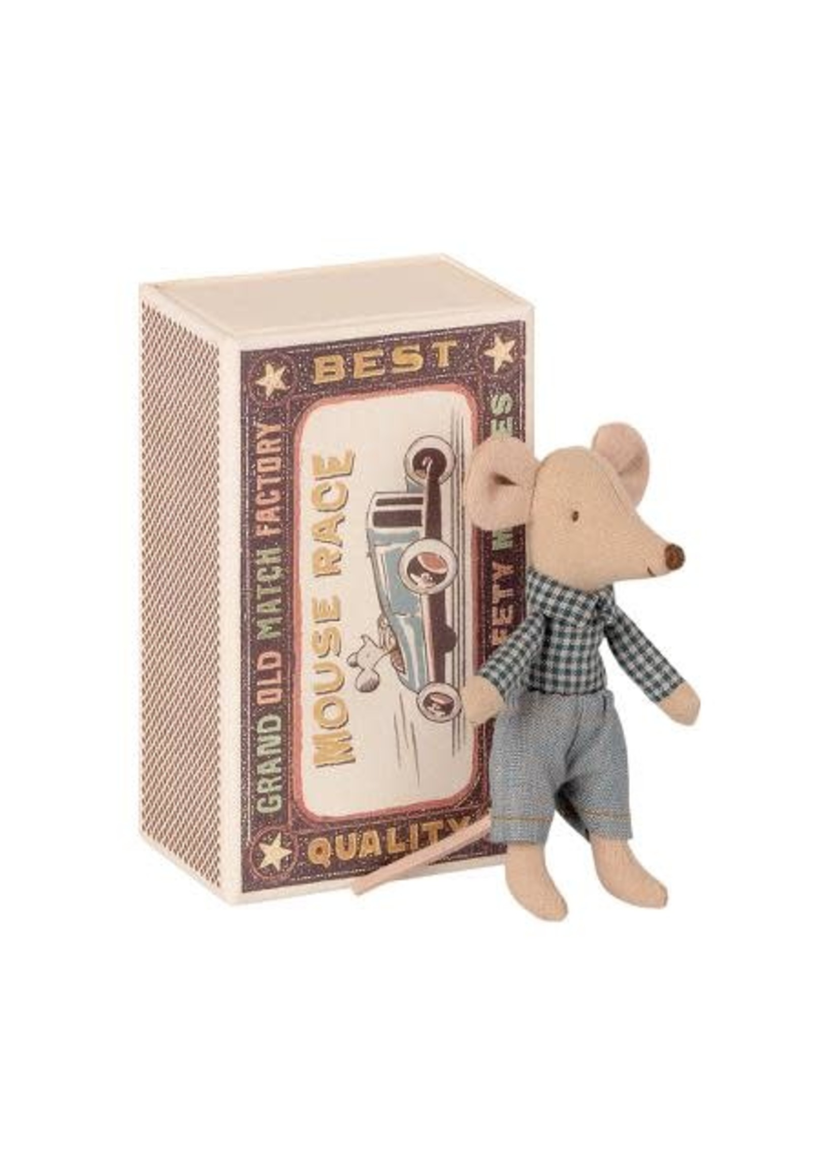 Maileg Little Brother Mouse - Matchbox