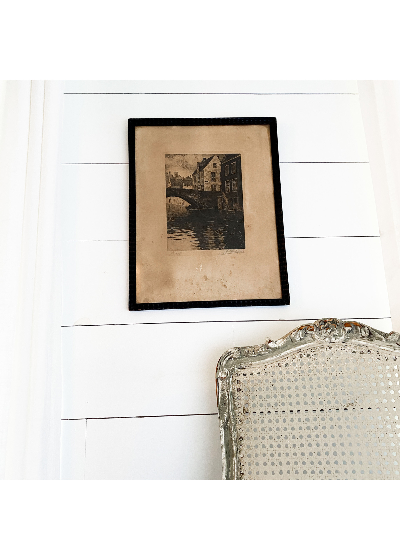 Antique French Print Signed
