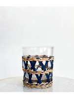 Amanda Lindroth Island Wrapped Tumbler Glass - Navy