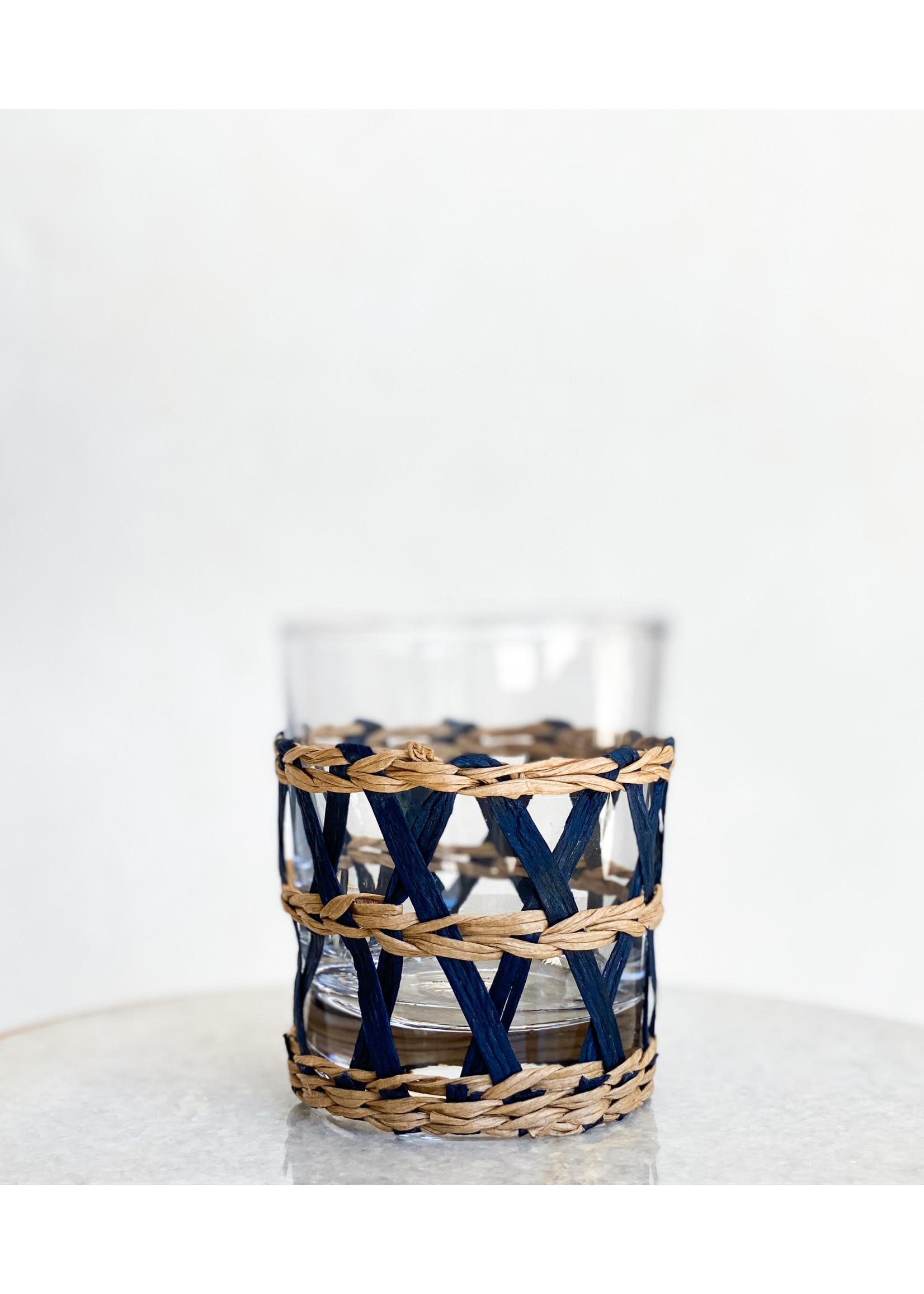 Amanda Lindroth Island Wrapped Tumbler Glass - Navy