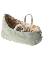 Maileg My Size Carry Cot - Dusty Green