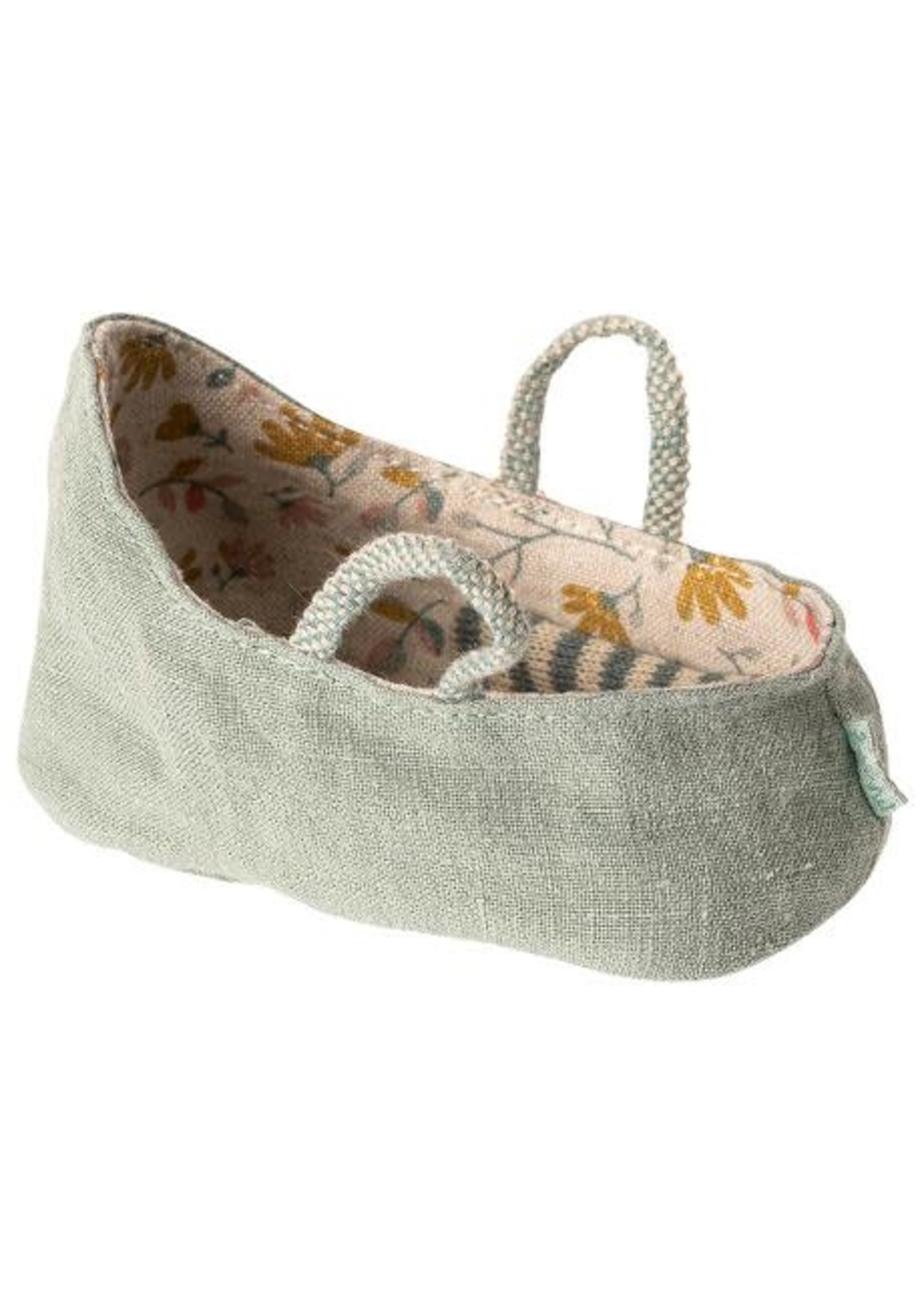 Maileg My Size - Carry Cot - Dusty Green