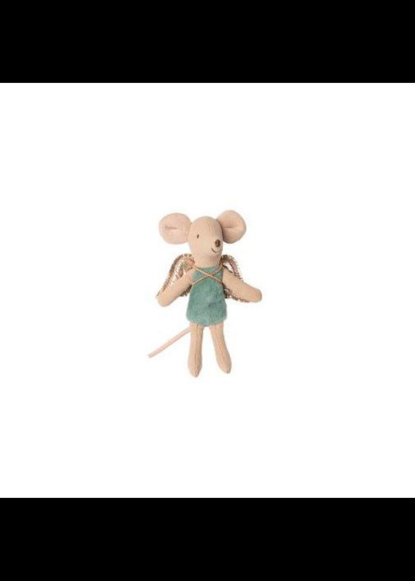 Maileg Little Sister Mouse - Angel Blue