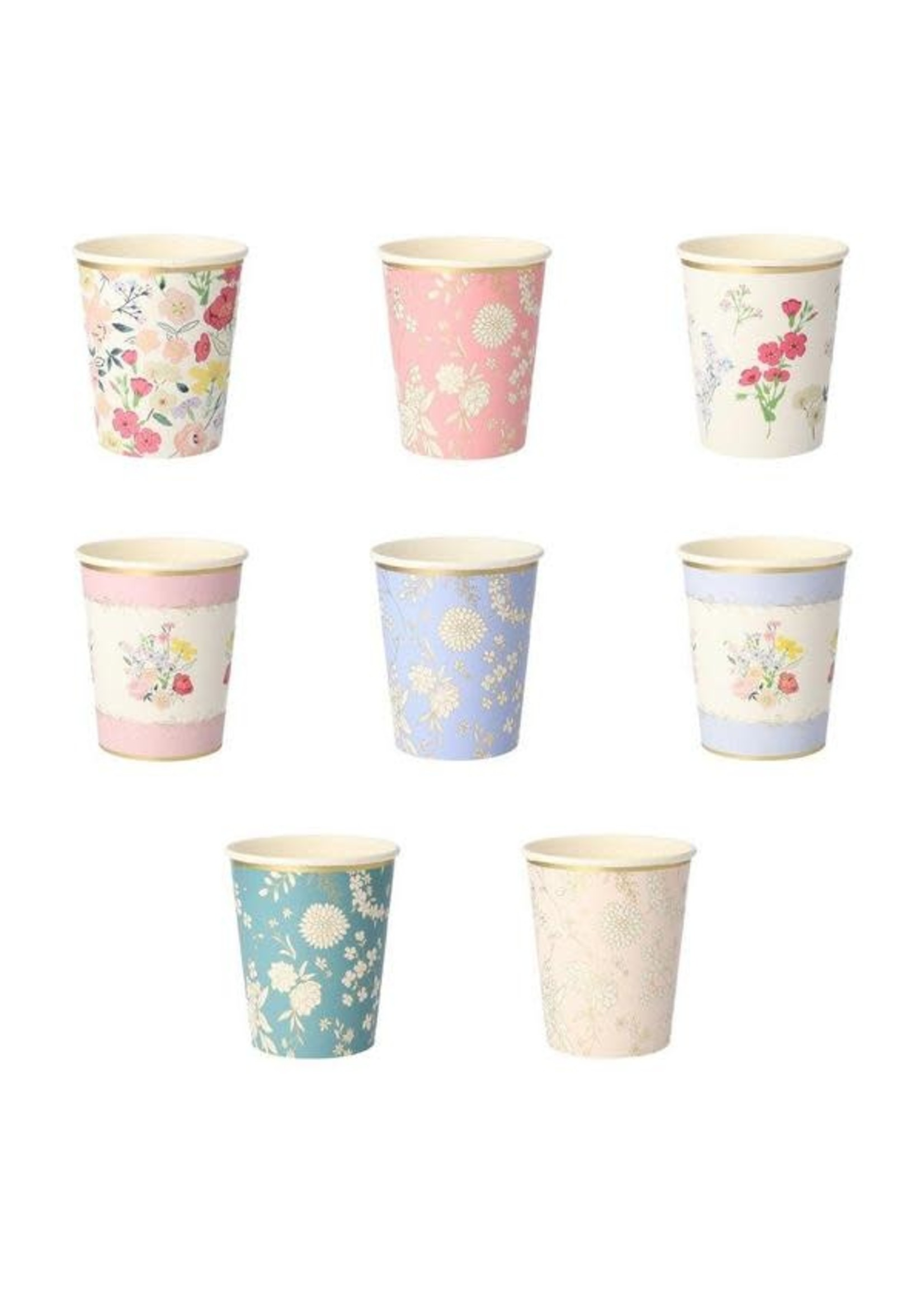 Meri Meri Paper Cups - English Garden Party