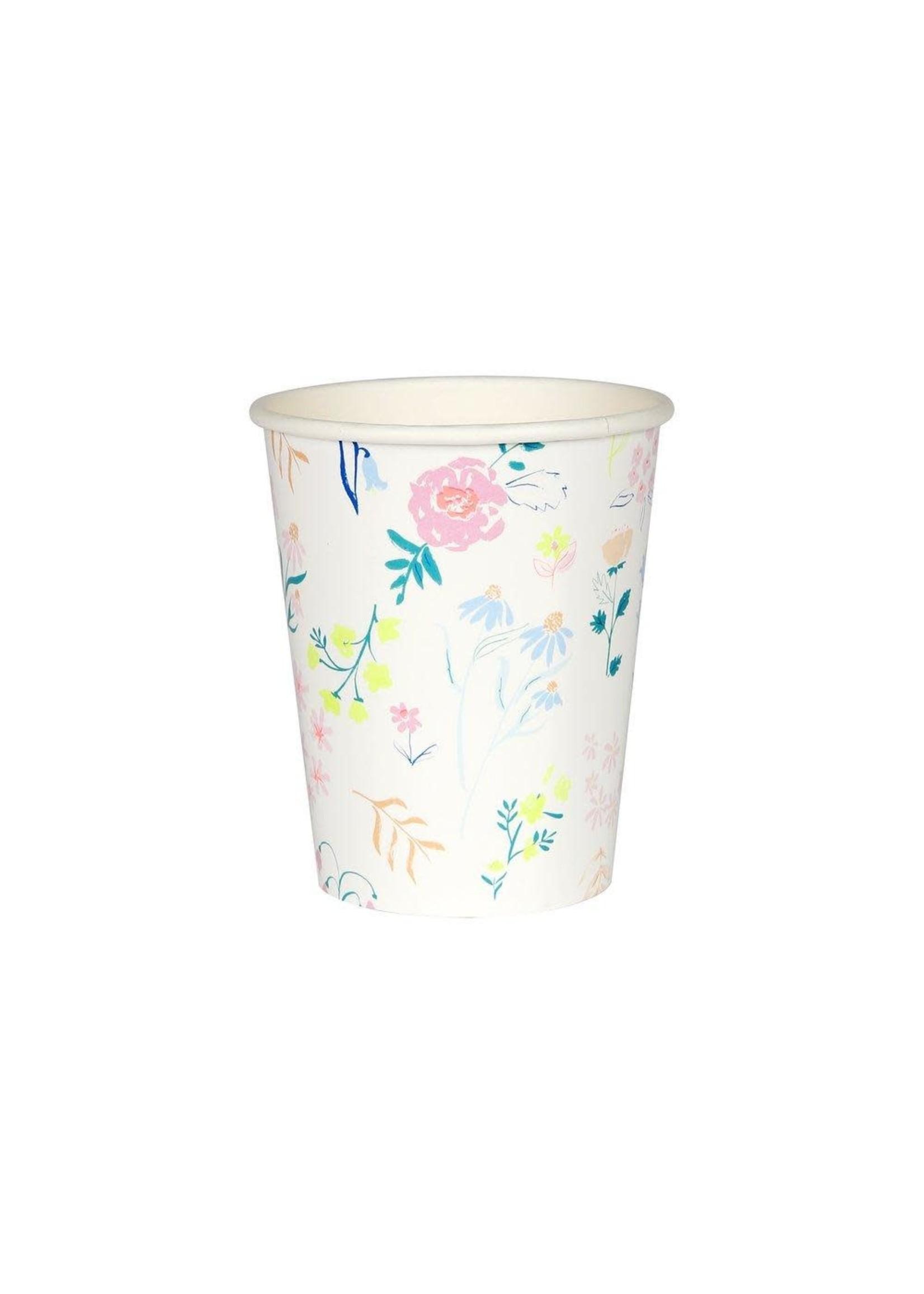 Meri Meri Paper Cups - Pastel Wildflower