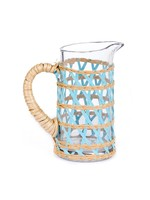 Amanda Lindroth Island Wrapped Pitcher Small - Light Blue